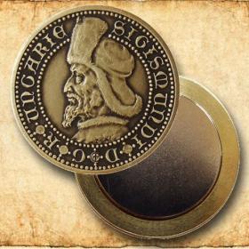 Medaila s magnetom Žigmund Luxemburský - Patina