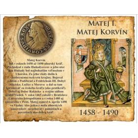 Medaila s magnetom Matej Korvín - Patina