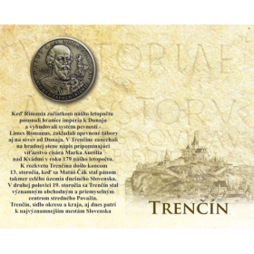 Medaila s magnetom - Matúš Čák Trenčiansky - Patina