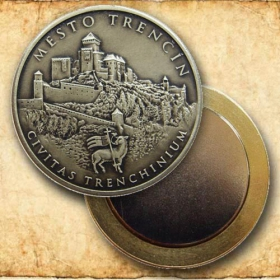 Medaila s magnetom - Mesto Trenčín - Patina