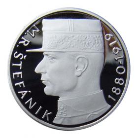Platinová replika 10 Kčs M. R. Štefánik z roku 1991 - R