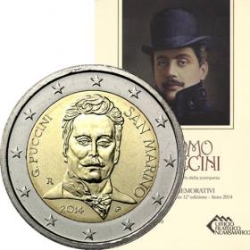 2 Euro / 2014 - San Maríno - Giacomo Puccini