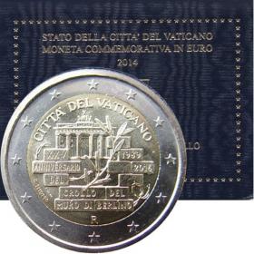 2 Euro Vatikán 2014 - Pád Berlínskeho múru