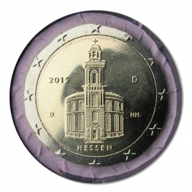 "2 Euro Nemecko ""D"" 2015 - Hessensko: Kostol sv. Pavla"