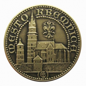 Kremnica medal with card - Patinated