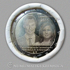 2 Euro / 2015 - Luxembourg - 15th Anniversary of Grand Duke Henri Accession to the Throne