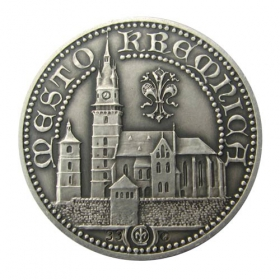 Medal Charles I of Hungary (Kremnica) - Patinated