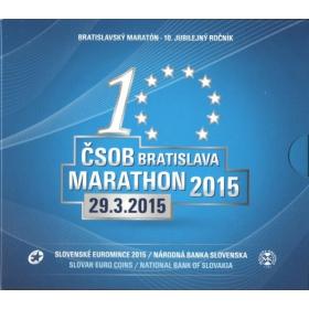 Set Euro / 2015 - Slovak euro coins - Bratislava marathon