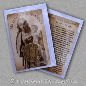 Madonna from the Kremnica city - medal with magnet - Patinated