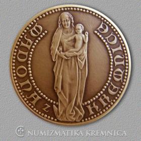 Medaila s magnetom Madona z Kremnice - Patina