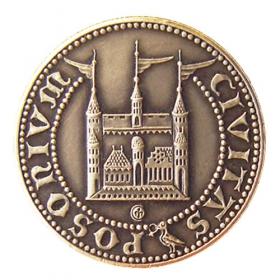 Medaila s kartou Matej Korvín - Patina