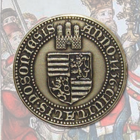 Medal Sigismund of Luxemburg with card - Patinated