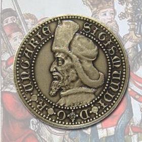 Medaila s kartou Žigmund Luxemburský - Patina