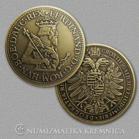 Medaila s kartou - Ferdinand I. Habsburský (Svätá rímska ríša) - Patina