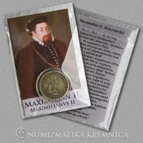 Medailička s kartičkou Maximilián II. (Habsburgovci) - Patina