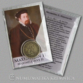 Small medal with card Maximilian II. (The Habsburgs) - Patinated