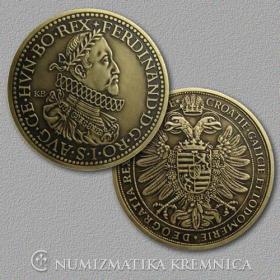 Medaila s kartou - Ferdinand II. Habsburský (Svätá rímska ríša) - Patina