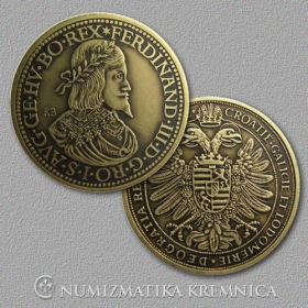 Medal with card - Ferdinand III Habsburg, Holy Roman Emperor - Patinated