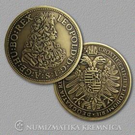 Medaila s kartou Leopold I. Habsburský (Svätá rímska ríša) - Patina