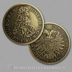 Medaila s kartou - Jozef I. Habsburský (Svätá rímska ríša) - Patina