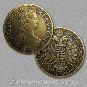 Medal with card - Maria Theresa Habsburg - Patinated