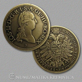 Small medal with card Joseph II. (The Habsburgs) - Patinated