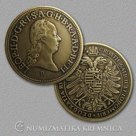 Medailička s kartičkou Leopold II. (Habsburgovci) - Patina