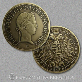 Medaila s kartou - Ferdinand V. Habsburský (Svätá rímska ríša) - Patina