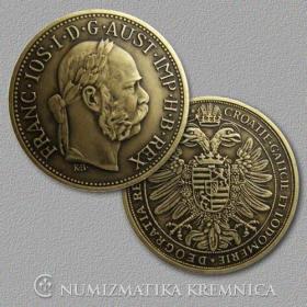 Medal with card Franz Joseph I Habsburg, Austrian Emperor - Patinated