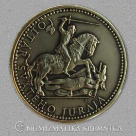 Medal with magnet - Altar of St.George (Spisska Sobota) - Patinated