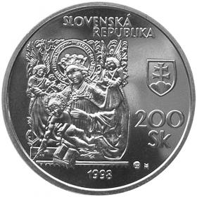 200 Sk / 1998 - 50th anniversary of the Slovak National Gallery establishment- Standard quality