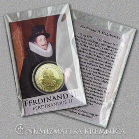 Medaila s kartou - Ferdinand II. Habsburský (Svätá rímska ríša) - Lesk