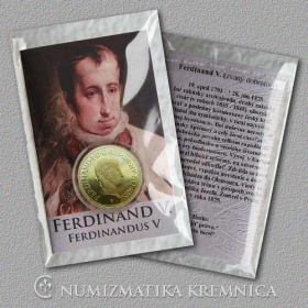 Medaila s kartou Ferdinand V. Habsburský (rakúsky cisár) - Lesk