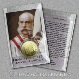 Small medal with card Franz Joseph I. (The Habsburgs) - Shiny