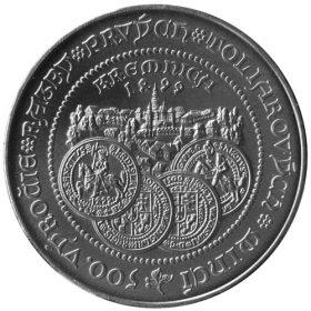 500 Sk / 1999 - Strike of the first thaler coins at Kremnica - Standard quality