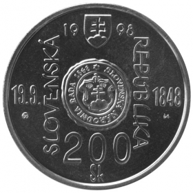 200 Sk / 1998 - 150th anniversary of the Slovak National Council and the outbreak of the Slovak Uprising of 1848-1849 - BU