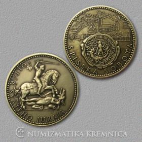 Medaila s kartou Spišská Sobota - Patina