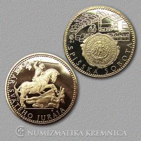 Medaila s kartou Spišská Sobota - Lesk