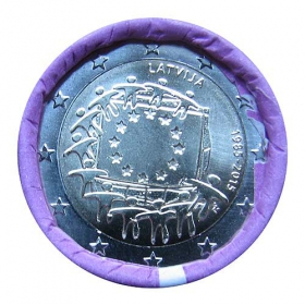 2 Euro / 2015 - Lotyšsko - Vlajka EÚ