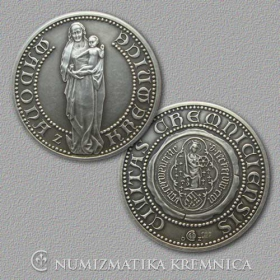 Medal Madonna from Kremnica - Patinated