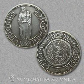 Strieborná medaila Madona z Kremnice - Patina