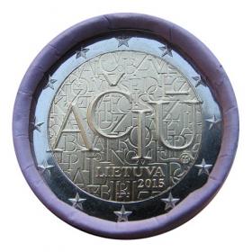 2 Euro Litva 2015 - Litovský jazyk