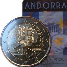 2 Euro Andorra 2015 - Colná dohoda