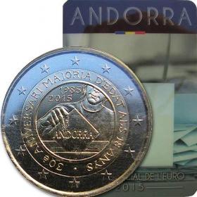2 Euro / 2015 - Andorra - Majority