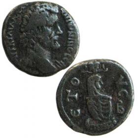 Ag Billon Tetradrachma / Rímske kolónie - Antoninus Pius