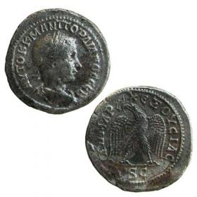 Ag Billon Tetradrachm / Roman colonies - Gordianus III.
