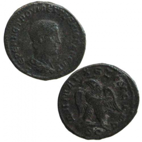 Ag Billon Tetradrachm / Roman colonies - Herrenius Etruscus