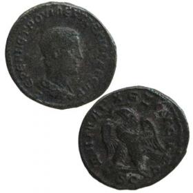 Ag Billon Tetradrachma / Rímske kolónie - Herrenius Etruscus