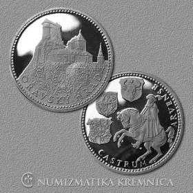 Strieborná medaila Oravský hrad - Proof
