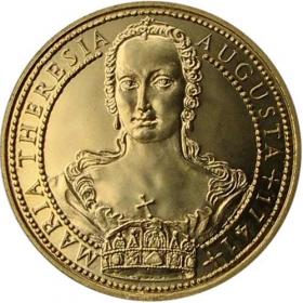 Sada zlatých medailí Mária Terézia (1,2,5,10-dukát)